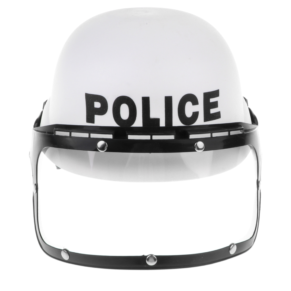 Kids Riot Police Helmet Hat - Cosplay Costume Cop Pretend Play Game Toy Gift