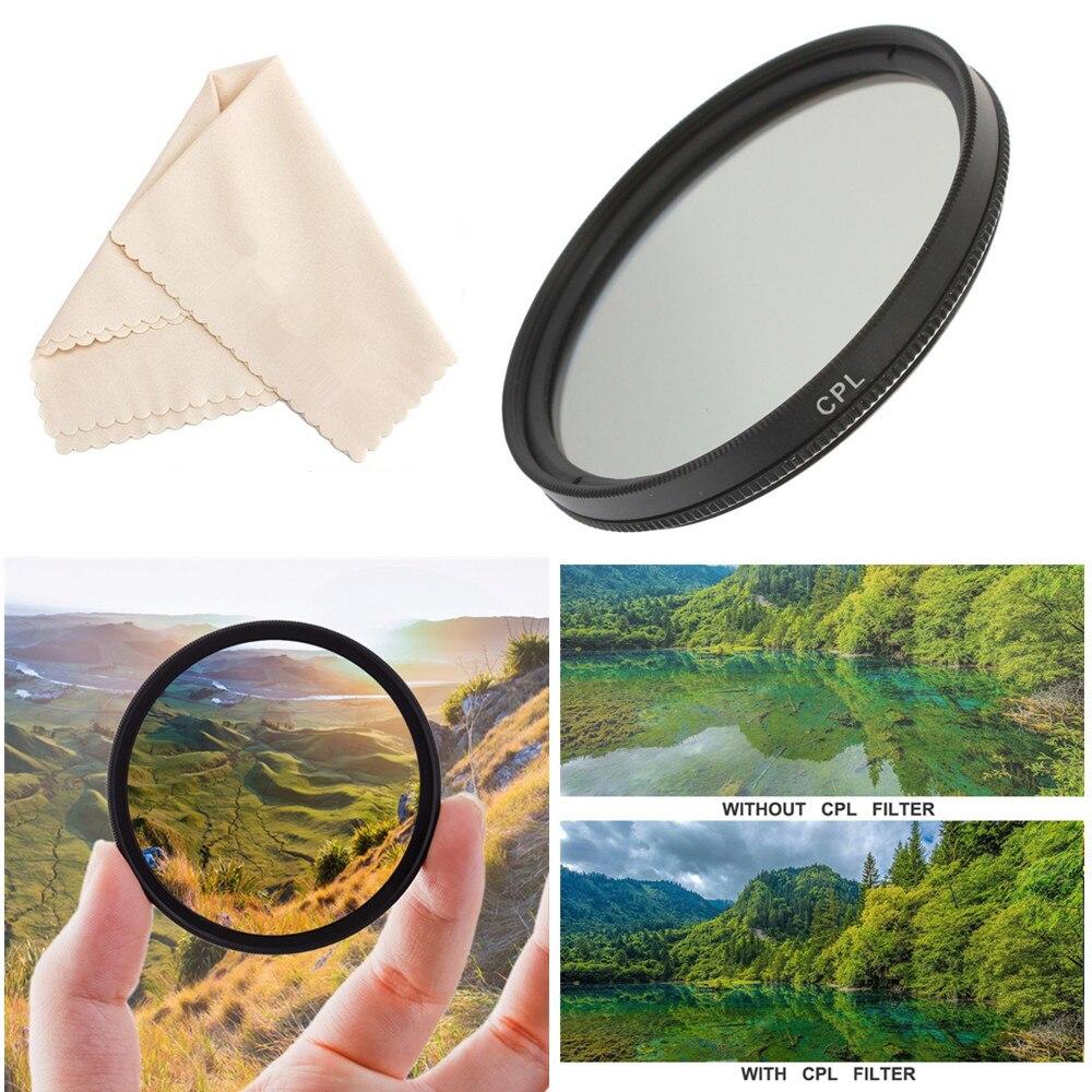 Круговой поляризационный фильтр CPL 37 39 40,5 43 46 49 52 55 58 мм для объектива камеры Nikon Canon Sony Fujifim Olympus Pentax Panasonic
