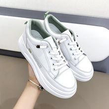 Женские Белые Твердые кроссовки на шнуровке; Повседневная обувь