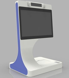 visitor system hotel dual-screen visitor face recognition device customizable with Passport scanner OCR card reader