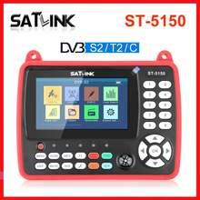 Localizador de satélite original satlink, medidor de satélite hd ST-5150 DVB-S2/t2/c h.265 hevr MPEG-4 com suporte qpsk 8psk 16apsk 4.3 Polegada tft lc
