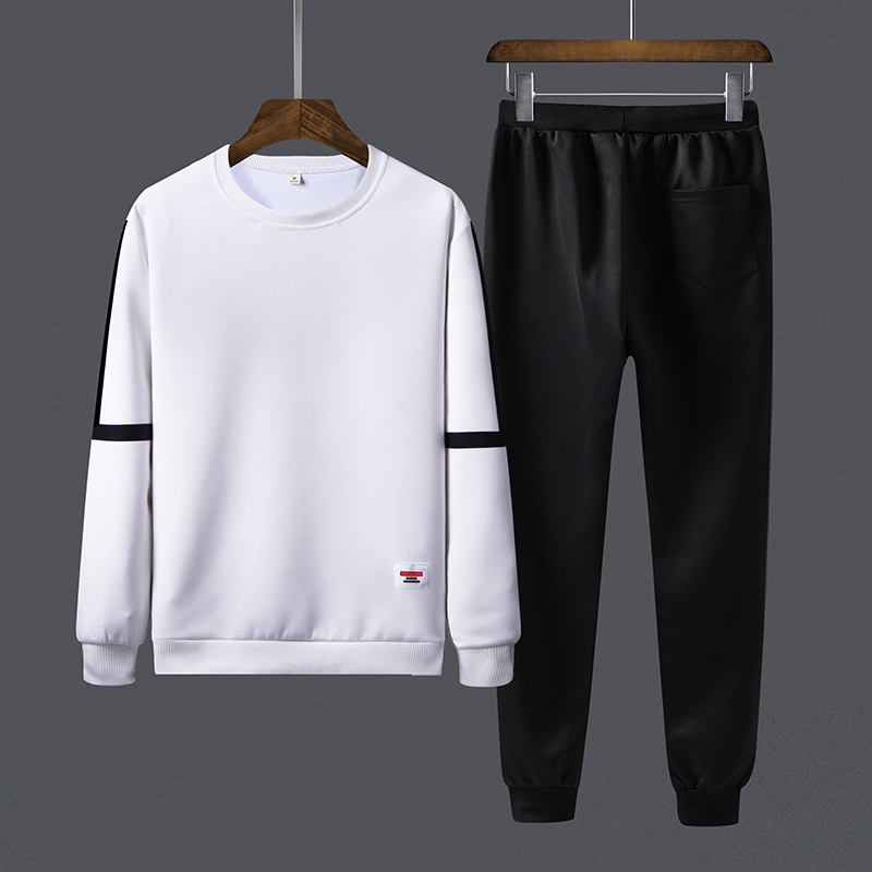 2020 New Trend Men Sets Casual Outwear Solid Tracksuit Male Loose Sports Suit Sweatshirts+Pants Two Piece Set Long Sleeve O-Neck