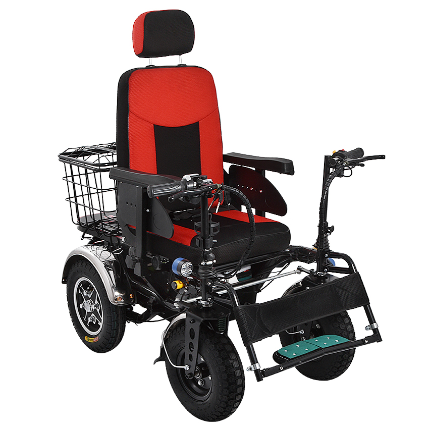 <font><b>Electric</b></font> Wheelchair Older Disabled Patient Four Wheel <font><b>Scooter</b></font> Handicapped <font><b>Scooter</b></font> 45km/75km Mileage Off-road <font><b>250W</b></font> 48V 20AH/32AH image
