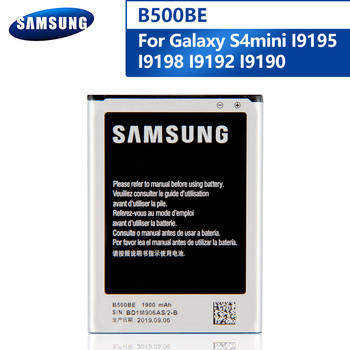 Original B500BE Battery For Samsung GALAXY S4 Mini I9190 I9192 I9195 I9198 S4Mini 3pins B500AE Replacement Phone Battery 1900mAh s style protective tpu back case for samsung galaxy s4 mini i9190 translucent white