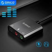ORICO carte son Interface USB externe 3.5mm Microphone stéréo réglage du Volume Audio lecteur libre adaptateur pour ordinateur portable PS4 Headse