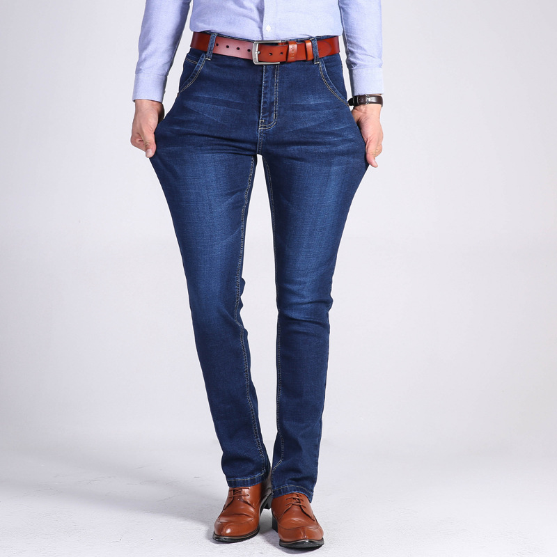 MEN'S Jeans Men Straight-Cut Jeans 2019 Cowboy Trousers Micro Mall Supply Of Goods