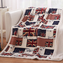Simanfei Lambskin Wool Blanket Flag Winter Thick Soft Warm Weighted Fluffy Flannel Fur Sofa For Beds Adult Fleece Travel Throw