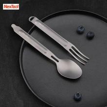 Youpin NexTool widelec łyżka odkryty czysty tytan przenośna zastawa stołowa 2 in 1 odpinany sportowe na świeżym powietrzu zdrowe wygodne