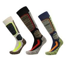Зимние теплые мужские и женские длинные Лыжные носки толстые