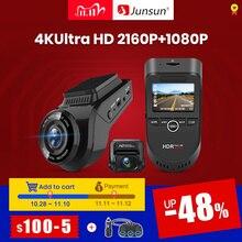Junsun S590 WiFi 4K Car Dash Cam Ultra HD 2160P 60fps GPS ADAS DVR Camera Recorder Sony 323 Rear Camera 1080P Night Vision