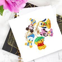 5pcs DIY Full Drill Special Shaped Drill Cartoon Diamond Painting Keychain Women Bag Decoration Diamond Mosaic Cross Stitch