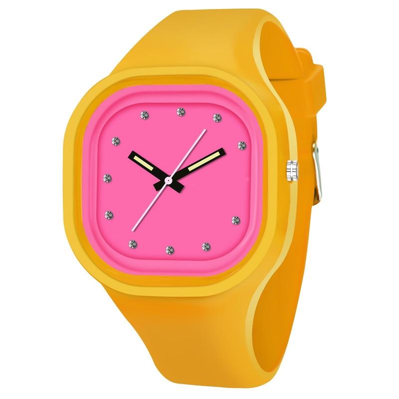 SB0022 Couple Watches Student Waterproof Sports Watch Brand Unique Silicone Quartz Wristwatches  12-hour Watch Luminous Hands