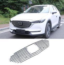 Металлическая передняя Центральная решетка решетки рамка Крышка отделка Подходит для Mazda CX-5 CX5 2017-2019 быстрый безопасный корабль