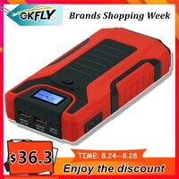 GKFLY arrancador de batería de coche de emergencia 12V banco de energía portátil 16000mAh dispositivo de arranque batería 1200A Booster para coche diésel de gasolina