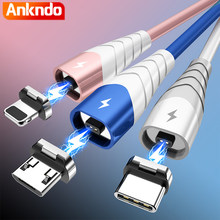 ANKNDO Magnetic Charging For Phone Fast Usb Micro Type C Cable For Iphone 12 Pro Max 3 In 1 Cord Usb C Cable Charger Wire