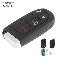 4 Buttons 433MHz Keyless Uncut Flip Remote Car Auto Key Fob Transmitter Push Start Fobik M3N40821302 68051387AB for Dodge