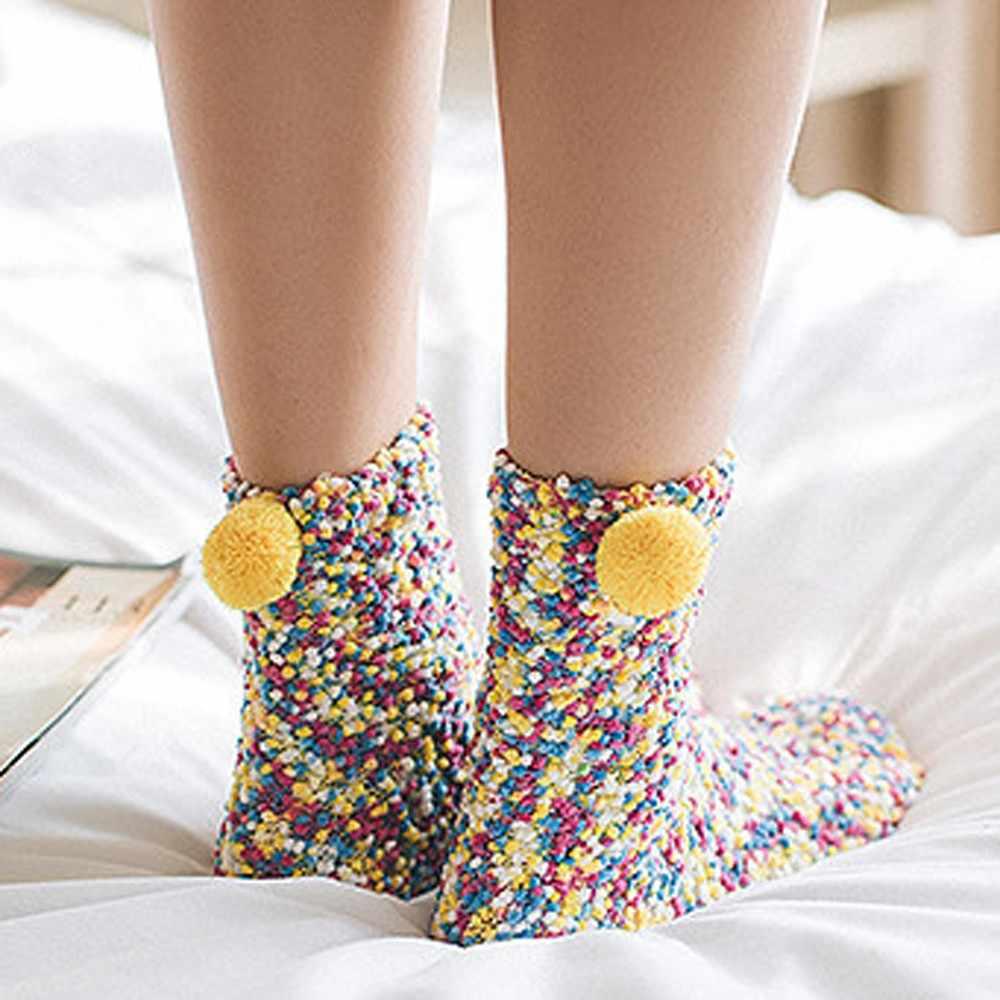 Moda kadın fincan kek pamuk çorap yaratıcı kış yumuşak sıcak tutan çoraplar yılbaşı hediyeleri Patchwork renkli yenilik kaykay çorap