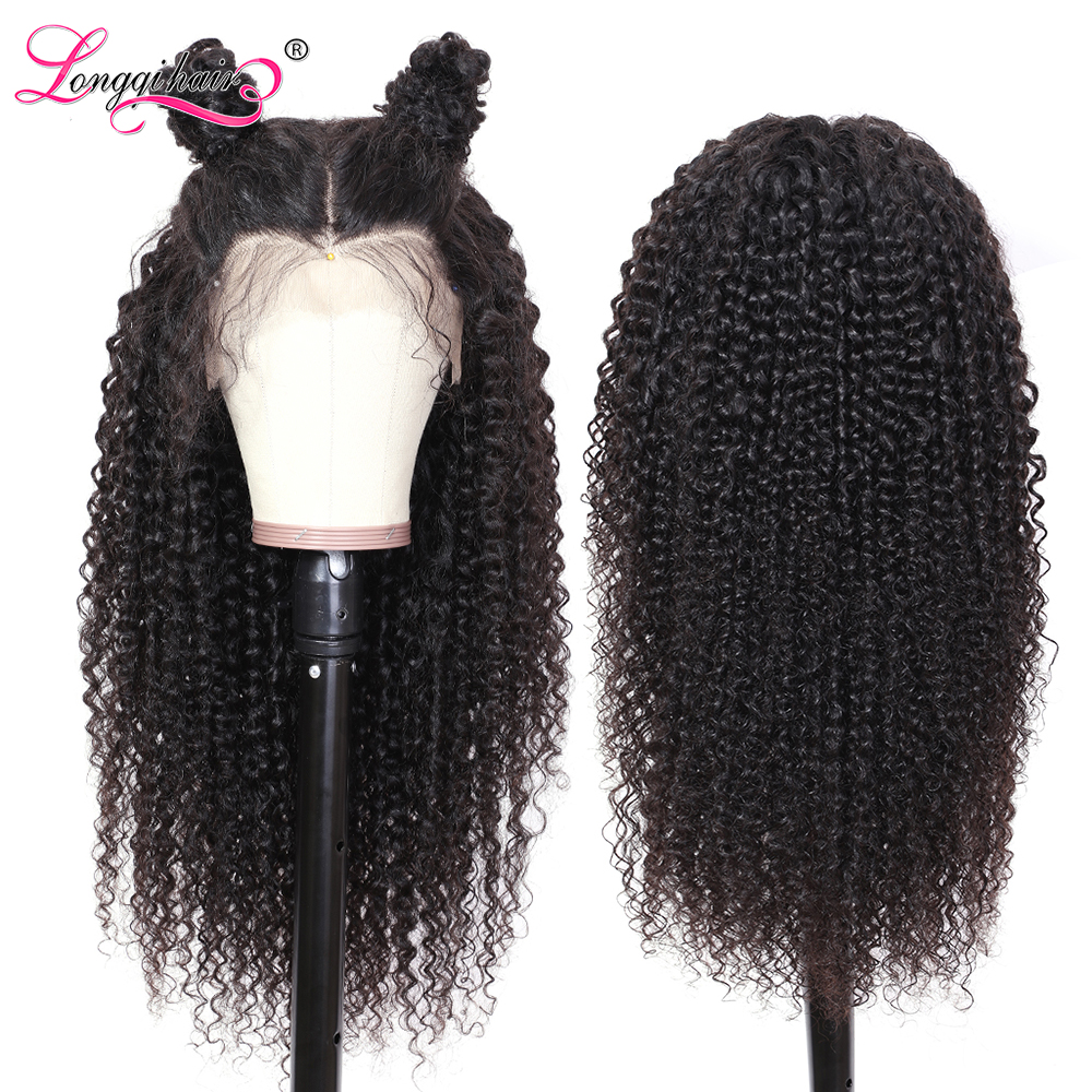 H12e1568ff57e4d48bb118ffd91d506ede Longqi Hair 13X4 13x6 Lace Front Human Hair Wigs Remy Brazilian Curly Human Hair Wigs Frontal Wig for Women 10 - 24 Inch