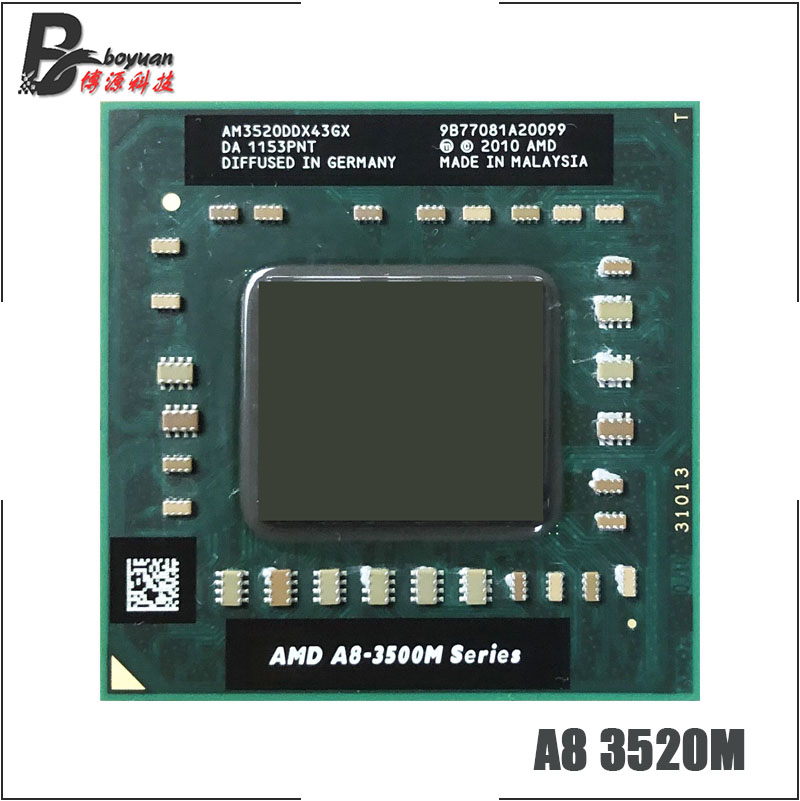 AMD A8-Series A8-3520M A8 3520M 1.6 GHz Quad-Core Quad-Thread CPU Processor AM3520DDX43GX Socket FS1