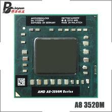 AMD A8-Series A8-3520M A8 3520M 1.6 GHz Dört Çekirdekli Dört Iplik CPU Işlemci AM3520DDX43GX Soket FS1