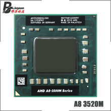 Processador amd A8-Series A8-3520M a8, 3520m 1.6 ghz, quatro núcleos, cpu quad-thread, soquete fs1