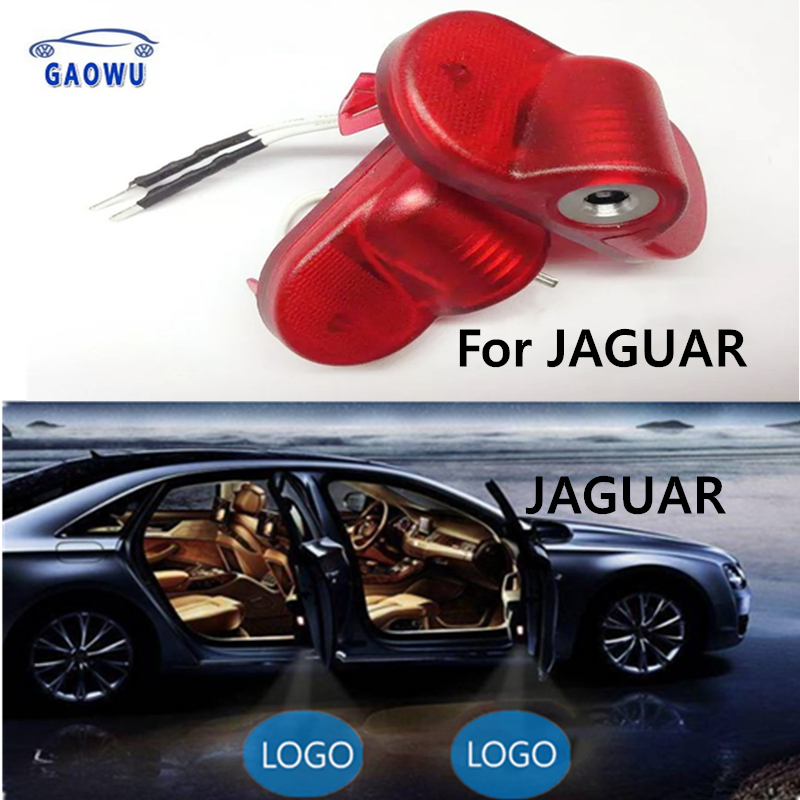 2x LED Car Door Light Projector Courtesy Laser Light Ghost Shadow Welcome Light For Jaguar X-Type 54 Plate XJ XJL X351