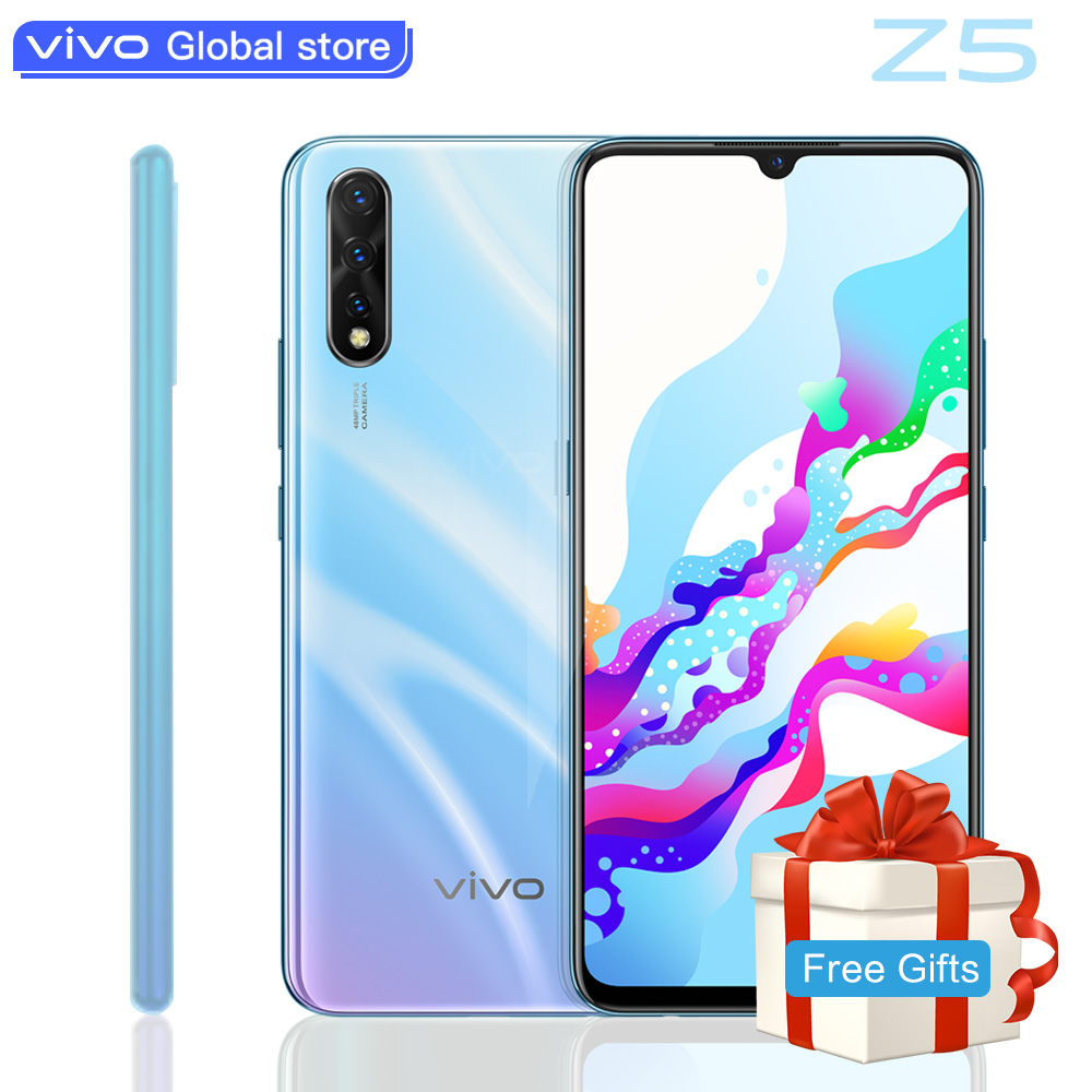 Original Vivo Z5 Amoled Screen Mobile Phone Snapdragon712 48MP+32MP Camera 4500mAh Battery Celulares 22.5W Charging SmartPhone