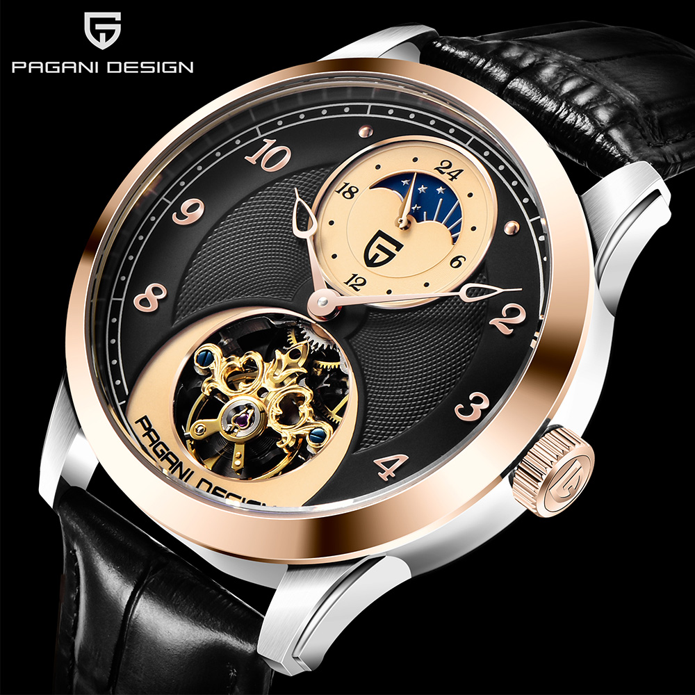 PAGANI DESIGN Fashion Men Mechanical Watch Luxury Sports Watch Mans Leather Strap Tourbillon Automatic Clock Waterproof 2020 New