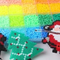 6500 шт./упак. Mixcolors 2,6 мм Хама бусины пазл, игрушки для детей обучения Diy предохранитель бусины игрушки 3D головоломка предохранитель бисера de ...