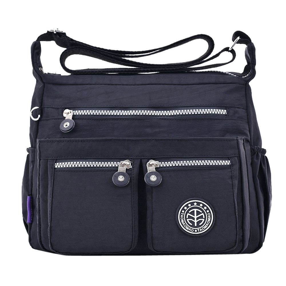 Women's Fashion Solid Color Water Repellent Nylon Shoulder Bag Crossbody Bag 2019 Luxury Handbags Women Bags Bolsa Feminina Sac