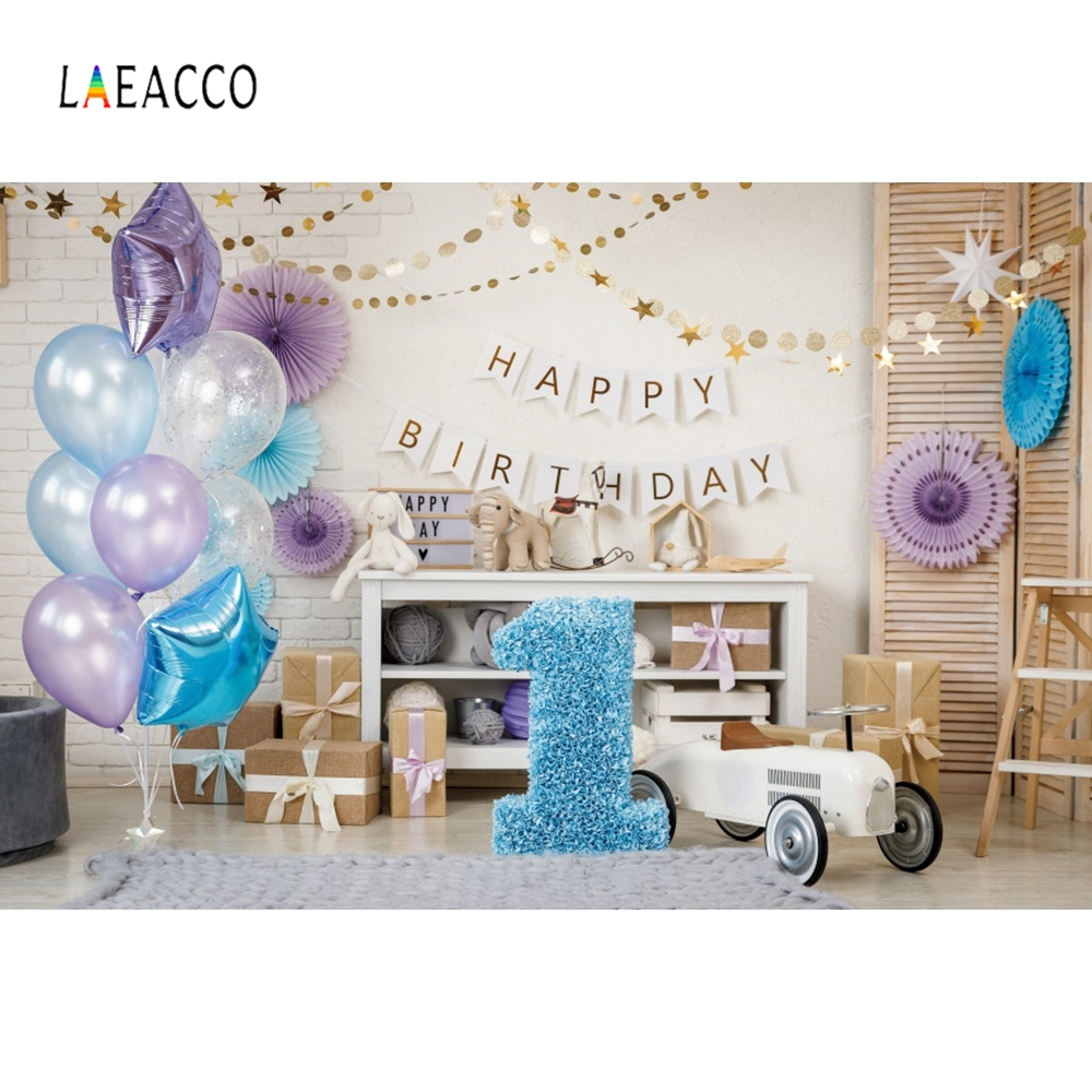 Image 5 - Детские воздушные шары Laeacco на день рождения, игрушечные машинки, медведи, полки, стулья, детские фоны для фотосъемки, ФотостудияФон для фотосъёмки    АлиЭкспресс