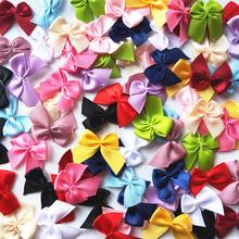 CNCRAFT 50pcs/lot  Mini Satin Ribbon Flowers Bows Gift Craft Wedding Decoration U PICK
