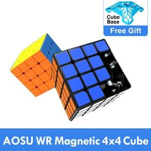 Image 1 - MoYu aosu WR 4x4x4 59 مللي متر مكعب و WRM 4x4 المغناطيسي أُحجية مكعبات سحرية المهنية WR م سرعة Cubing ألعاب تعليمية للأطفال