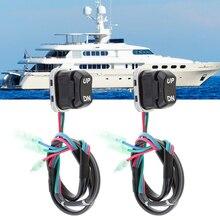 Выключатель для отделки лодки, 2 шт., переключатель для морской отделки, для Yamaha, 4-тактный подвесной двигатель, подключи и играй, аксессуары д...