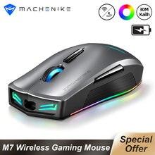 Machenike M7 bezprzewodowa mysz dla graczy Gamer 16000 DPI RGB programowalny akumulator PMW3212 PMW3335 mysz komputerowa