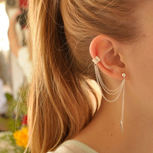 Stylish Simple Style Leaf Clip On Earrings For Women Geometric Stud Earing Brincos Gift Ear Cuff Earings Fashion Jewelry 2019 stylish simple style faux pearl chunky cuff ring for women