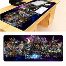 Free Shipping 900x400x2mm Best Heroes of The Storm Large Mouse Pad Game Pad To Mouse Notebook Computer Mouse Mat(China)