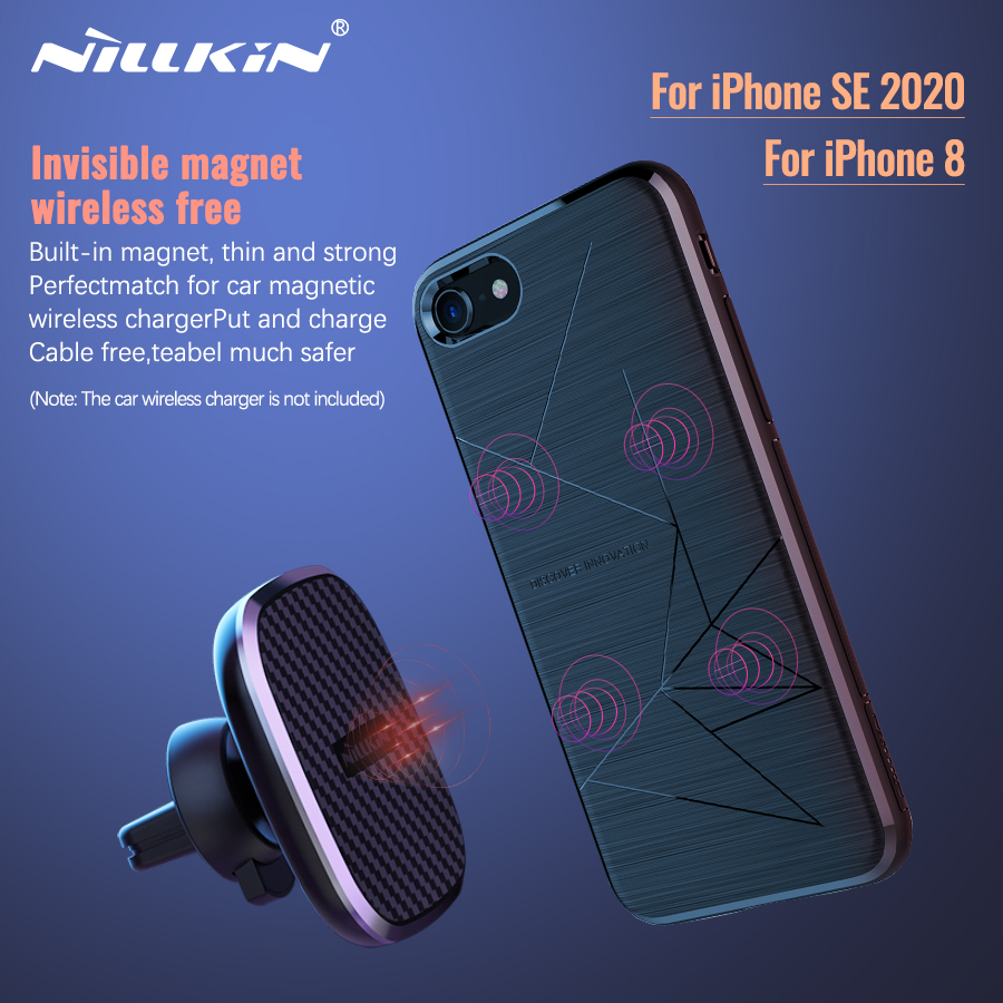 Wireless <font><b>Charger</b></font> Receiver case for iPhone SE 2020 Magnetic Nillkin Qi Wireless <font><b>Charger</b></font> Receiver for iPhone 8 X Wireless Charging image