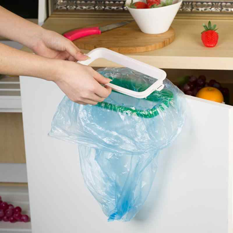 בעל שקית אשפה תליית מטבח ארון קבינט דלת תא המטען סטנדר אחסון שקיות אשפה מתלה 12.5*22cm Dropshipping