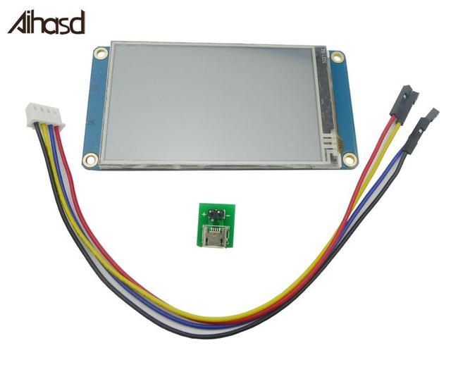 "Nextion 3.2 ""TFT 400X240 مقاوم شاشة تعمل باللمس HMI وحدة عرض إل سي دي TFT لوحة اللمس لاردوينو TFT التوت بي"