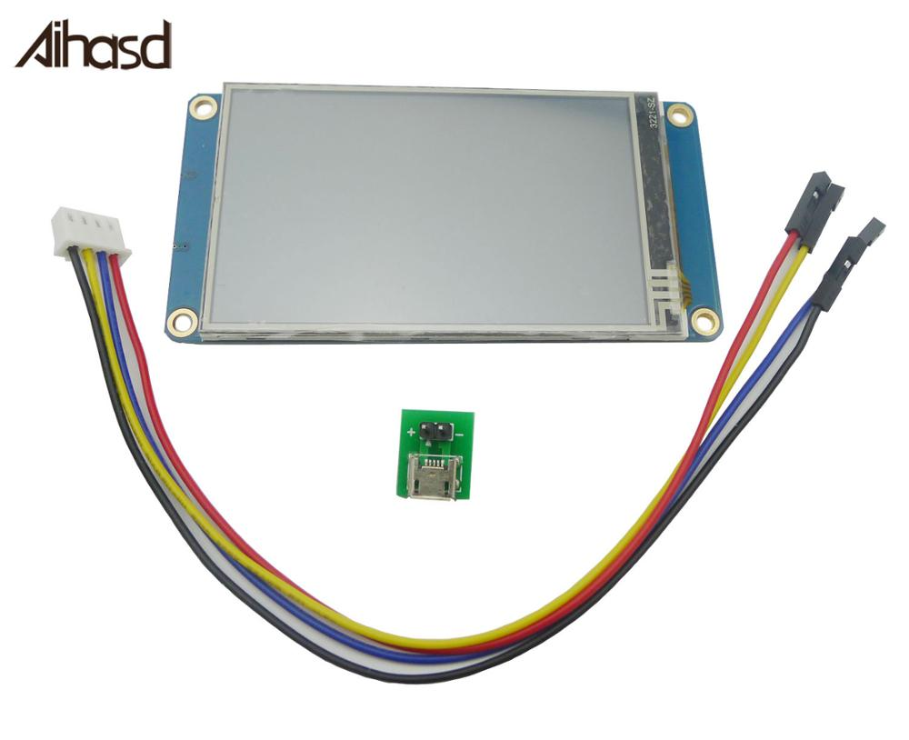 """Nextion 3.2 """"TFT 400X240 écran tactile résistif HMI Module d'affichage LCD TFT écran tactile pour arduino TFT raspberry pi"""