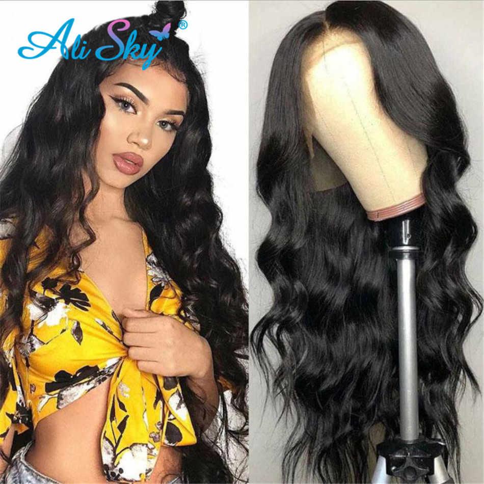 Brazilian13x6 ciała koronkowa fala peruka Front PrePlucked 360 koronki przodu włosów ludzkich peruk dla czarnych kobiet HD przezroczysty czołowa koronki peruka