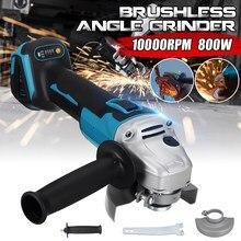 125/100mm 4 velocidade brushless ângulo elétrico moedor de moagem máquina sem fio 800w carpintaria ferramenta elétrica para 18v makita bateria