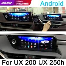 цена на For Lexus UX 200 UX 250h 2019 Car Android Multimedia player WiFi GPS Navi Map Stereo Bluetooth 2K IPS Screen original style