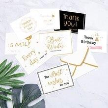 1 шт. Мини белый черный gloden спасибо вам приветствие открытки свадьба сообщение открытки подарок коробка украшение открытки