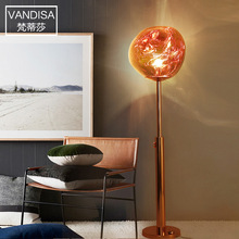 цена на Modern LED floor lamp Nordic bedroom home deco standing lighting living room fixtures creative Glass vertical luminaires