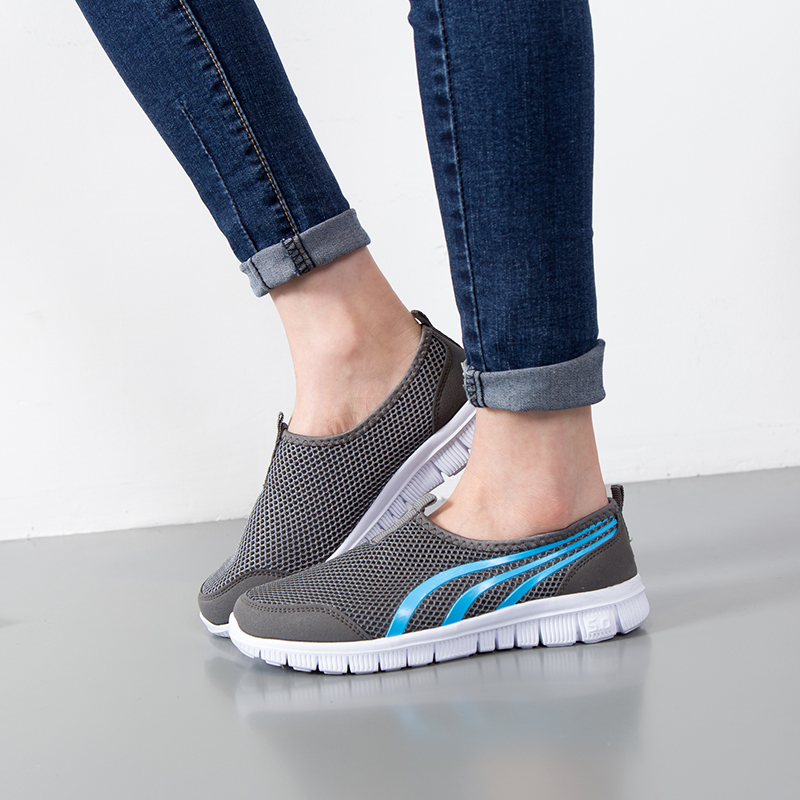 Summer Mesh Men Shoes Sneakers Breathable Flat Shoes Slip-on Sport Trainers Comfortable Lightweight Men Shoes Zapatillas Hombre 3