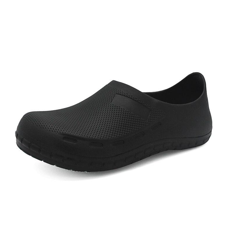 Hommes chaussures décontractées EVA haute qualité mâle étanche cuisine travail chaussures noir homme Chef maître cuisinier hôtel Restaurant sandales plates