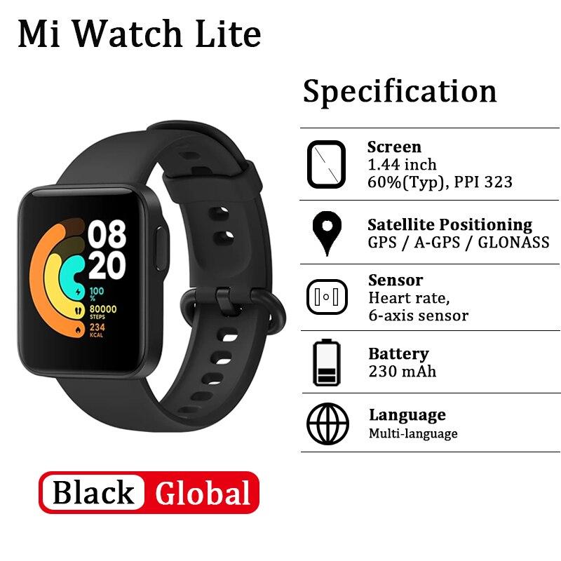 Xiaomi Mi часы Lite смарт-браслет GPS фитнес-трекер фитнес-браслет сердечного ритма 1,4 дюймов будильник Redmi Смарт-часы глобальная версия-1