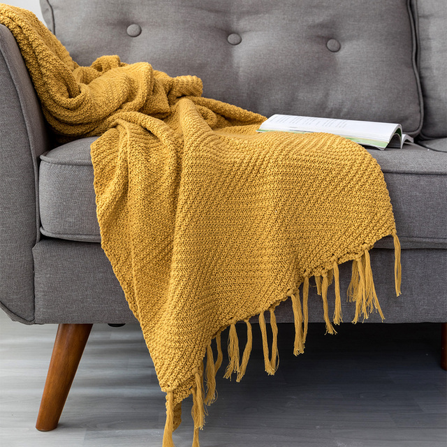 Mustard Yellow Blanket